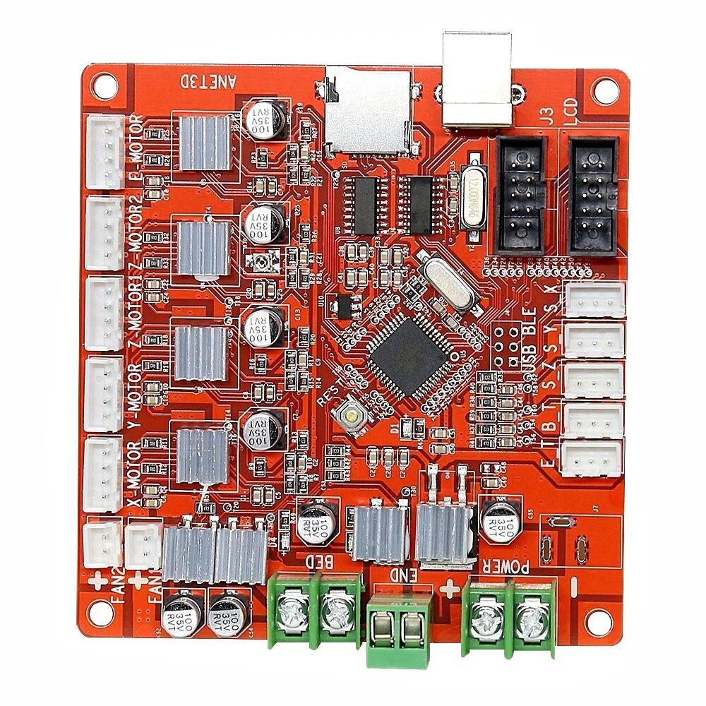 A8 3D Printer Mainboard For Anet V1.0 Reprap Mendel Prusa Control Motherboard reprap prusa mendel diy 3d printer robot main control chip atmega1284p au black