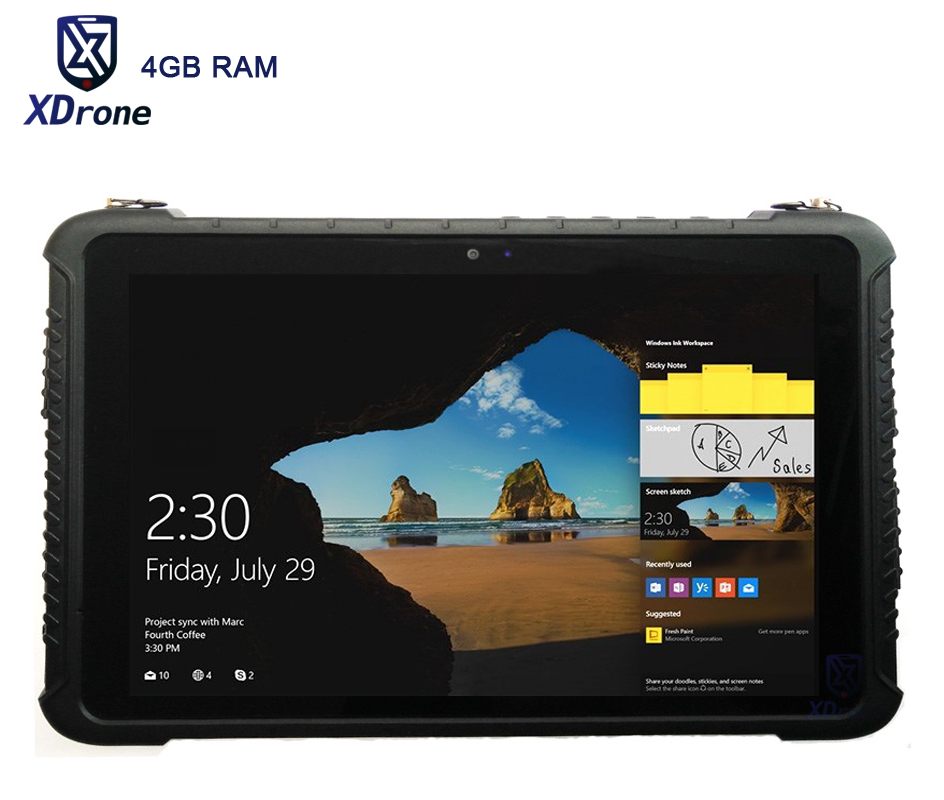 Industrial Computer Military K16H Rugged Windows 10 Tablet PC 4GB RAM 64GB ROM IP67 Waterproof 10.1