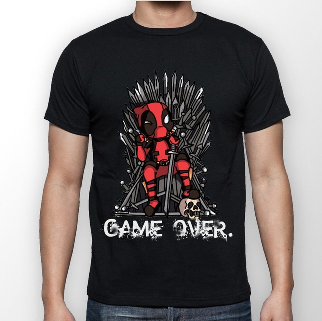 Game Of Thrones Deadpool Iron Throne Summer Casual Fashion Men's T-shirt