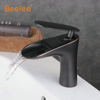 Beelee nuovo deck mounted ottone nero rubinetto del bagno bacino lavello miscelatore rubinetto orb rubinetto miscelatore vasca da bagno rubinetto bl9023b