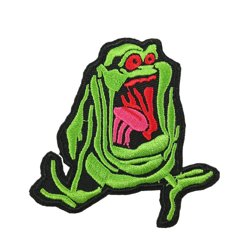 The Real Ghostbusters Slimer Embroidered iron on sew on Patch Venkman Stantz Egon Ecto horror movie