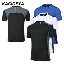 Men T-Shirt Jersey Soccer-Training Running Short-Sleeves Jogging Quick-Dry New Big Polyester