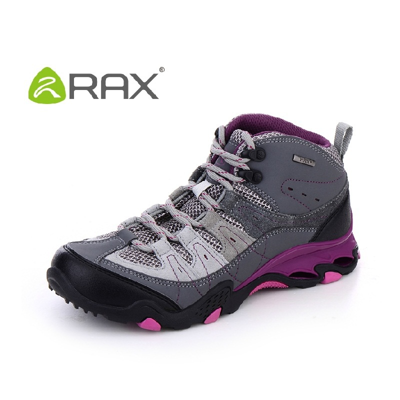 RAX women hiking shoes spring winter women suede leather hiking shoes outdoor comfortable trekking sneakers A605 yin qi shi man winter outdoor shoes hiking camping trip high top hiking boots cow leather durable female plush warm outdoor boot