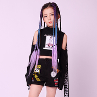 Jazz Dance Clothes Girls Hip Hop Dance Costumes Street Dance Performance Stage Outfit Children Rave Party Fashion Wear DQL704
