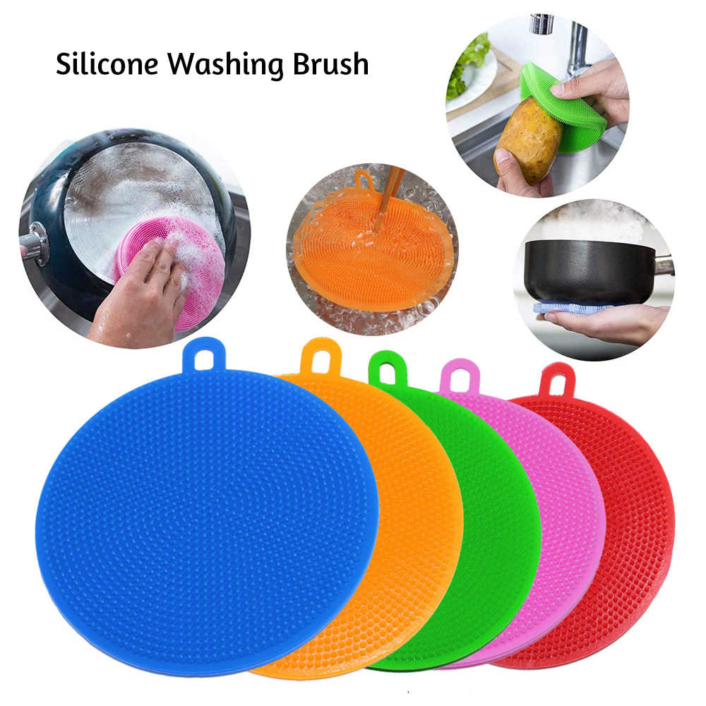 Magic Sponge Cleaning Brush For Washing Silicone Pot Pan Bowl Dish Brush Scouring Pad Can Hang Sponge New Items for the kitchen