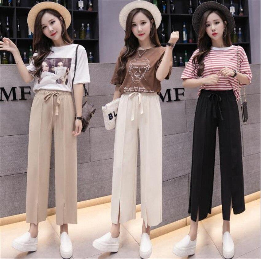 Mlcriyg Корейская новая версия универсальная тонкая талия свободные штаны