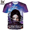 2016 Мода Одежда Мужчины/Женщины футболка печати Майкл Джексон 3D Футболка Мужская с коротким рукавом футболки рок футболки