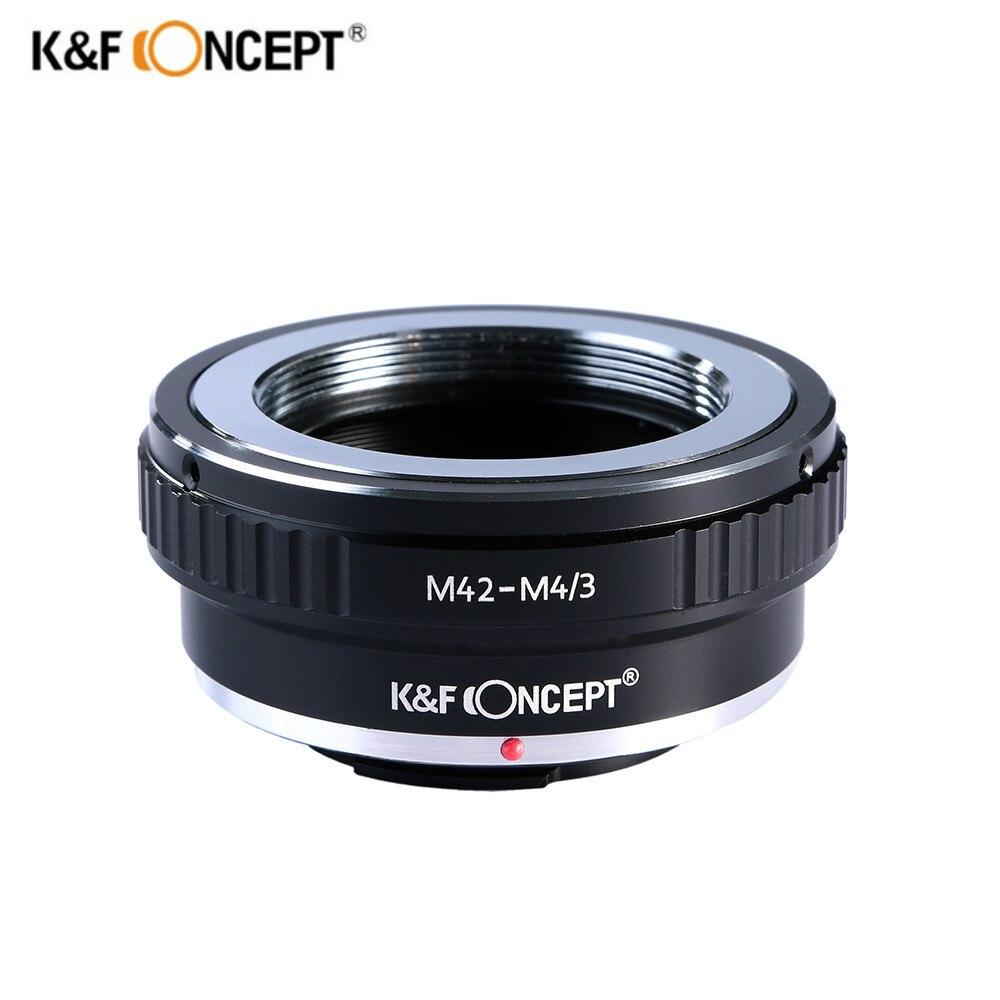 K & F CONCEPT M42-M4/3 Bague D'adaptation D'objectif pour Pentax/Praktica/Voigtlander M42 Monture à olympus/Panasonic Micro 4/3 M4/3 Caméra
