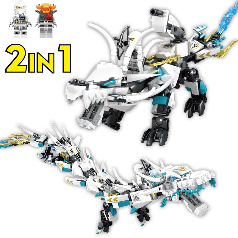 где купить 369Pcs Zane White Dragon Ninja Robot Toy Building Blocks Dragon Ball Legoings Ninjago Bricks Educational Toys for Children Gift по лучшей цене
