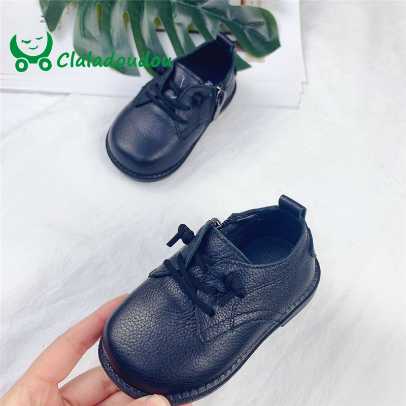 Claladoudou11.5-15CM Genuine Leather Girl Boys Formal Party Dress Shoes Beige Black Soft Shoes Flat For Toddler Girl Boys Flats Claladoudou11.5-15CM Genuine Leather Girl Boys Formal Party Dress Shoes Beige Black Soft Shoes Flat For Toddler Girl Boys Flats