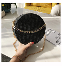 2019 Straw Round Shoulder Bags Summer Beach Bag Women Clutch Purse Womens Handbags Fashion Zipper Circular Bolsa
