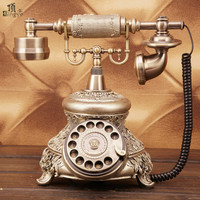 Ye are the top European Garden antique retro home phone telephone Dial number Decoration home Rotate tones