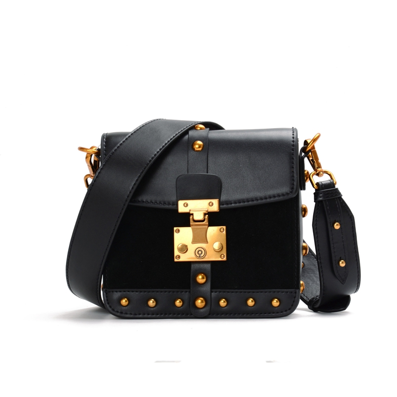 Genuine Leather Small Mini Flap Bag Women Messenger Bags Suede Rivet Bolsa Luxury Handbags Women Bags Designer Crossbody Bags women messenger bags genuine leather single shoulder bags solid small flap women handbags mini classic box