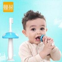 Mambobaby 2 Heads Mushroom Silicone Baby Teether Kids Teething Children Toothbrush Baby Tooth Brush Newborn Banana