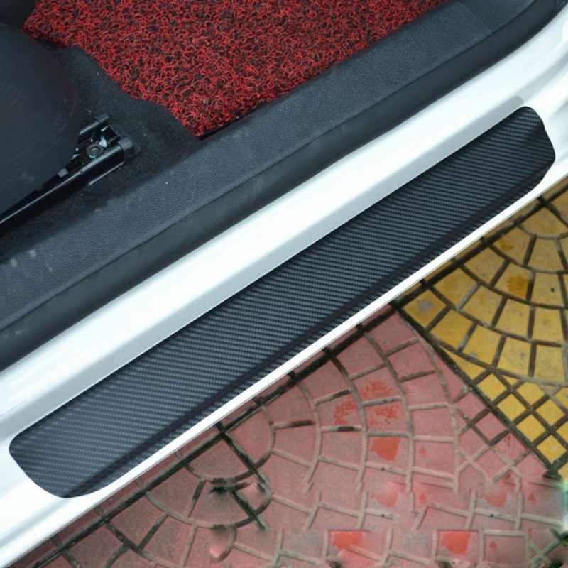 Proteger a Fibra de Carbono carro Adesivos Olhar Tampa Placa de chinelo peitoril Porta Do Carro pedal bem-vindo limiar Adesivo Anti Arranhão