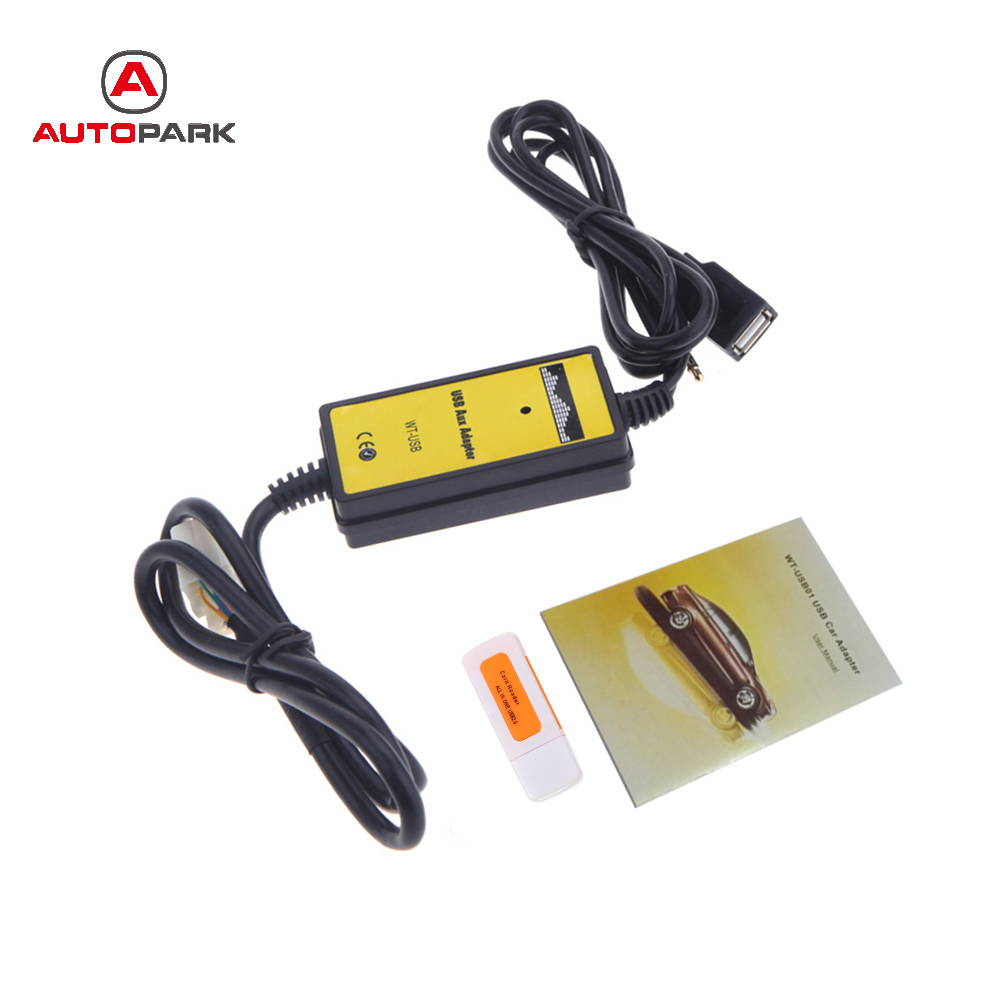 Auto Vehicle Cables : Professional auto car usb aux in cable adapter mp player