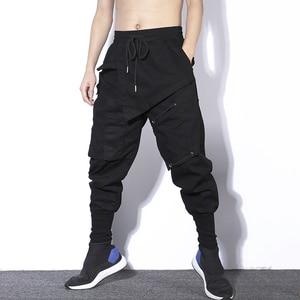 Image 3 - Мужские шаровары в стиле хип хоп, черные повседневные спортивные брюки карго для бега, весна 2020