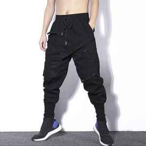 Image 3 - Streetwear Spring Harem Pants Men Hip Hop Black Casual Mens Joggers Pants 2020 New Sweatpants Cargo Trousers Men