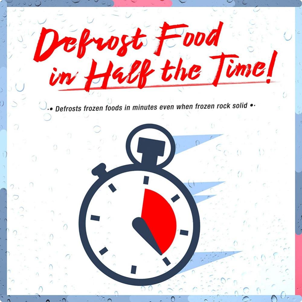Meijuner Fast Defrosting Tray Thaw Frozen Food Meat Fruit Quick Defrosting Plate Board Defrost Kitchen Gadget Tool 10