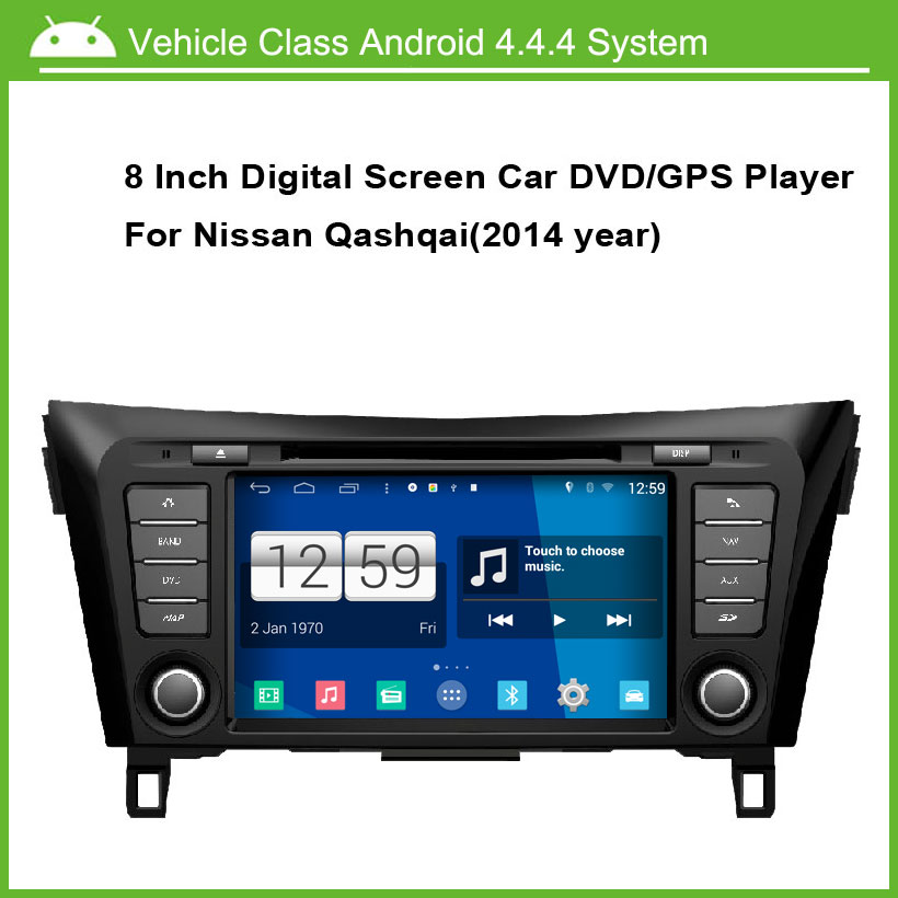 Android 4.4.4 Car DVD Video Player For Nissan Qashqai 2014 Car GPS Navigation,Speed 3G, enjoy the built-in WiFi