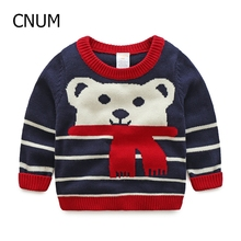 2016 new arrive Children Cotton Long-Sleeve red blue Sweater Autumn and Winter Sweater Cute cartoon Pattern Boys Sweater
