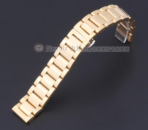 Watch band 18mm 20mm 22mm Rose Gold  NEW Mens Replacement Stainless Steel Watchbands strap Bracelets Brand WATCHBAND PROMOTION
