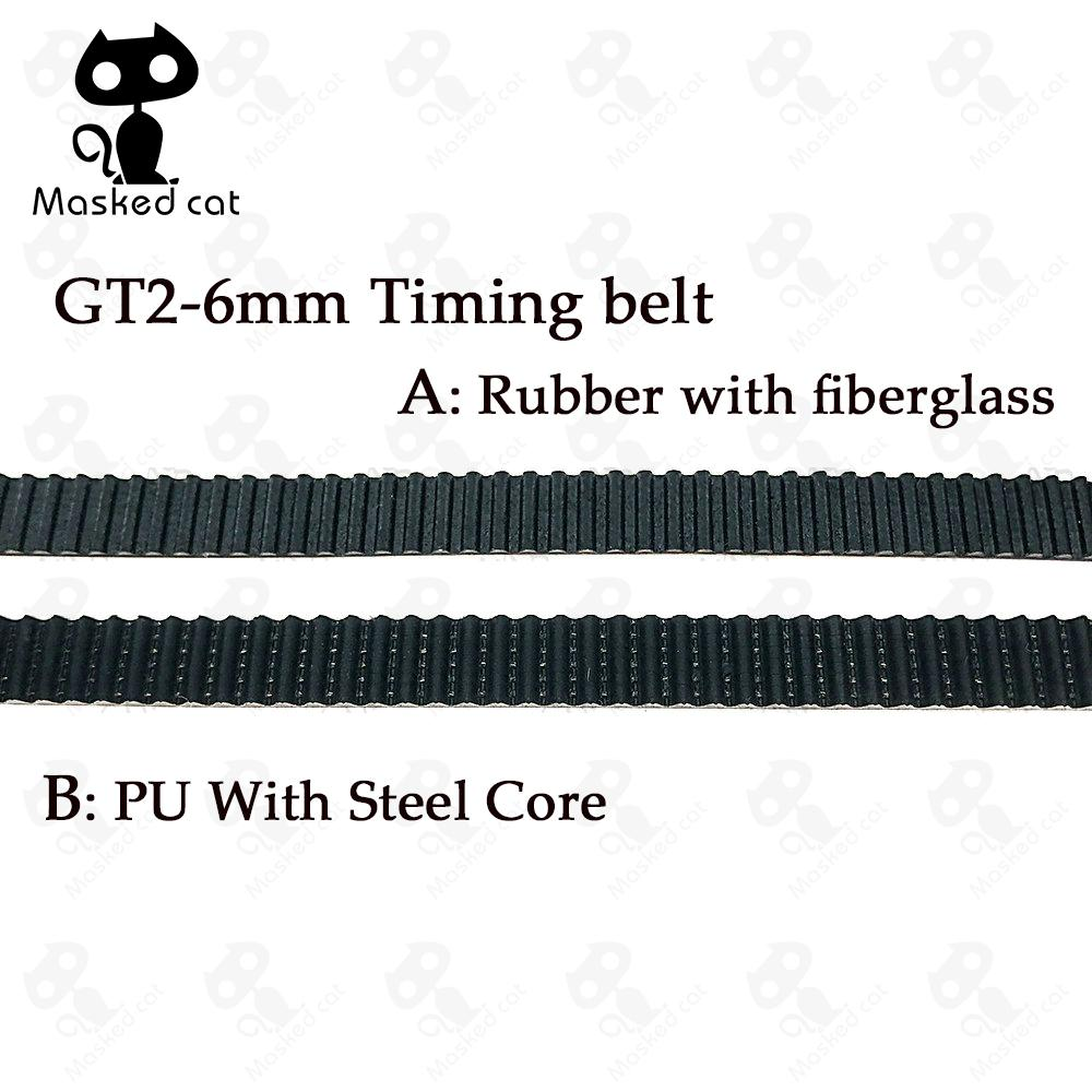 5M PU with Steel Core Rubber fiberglass timing belt GT2 6mm Belt Black Color 2GT open timing Belt 6mm Width 5M for 3d printer candino c2078 1
