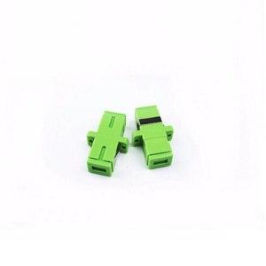 Image 2 - 50 個の sc Apc 光ファイバアダプタシングルモードシンプレックス SC apc コネクタ光ファイバアッテネータ SC シングルモードファイバフランジ送料無料