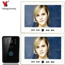 """YobangSecurity Video Doorbell 10"""" Color Video Door Phone Intercom Doorbell Unlock Indoor Monitor Rainproof Night Vision Camera"""