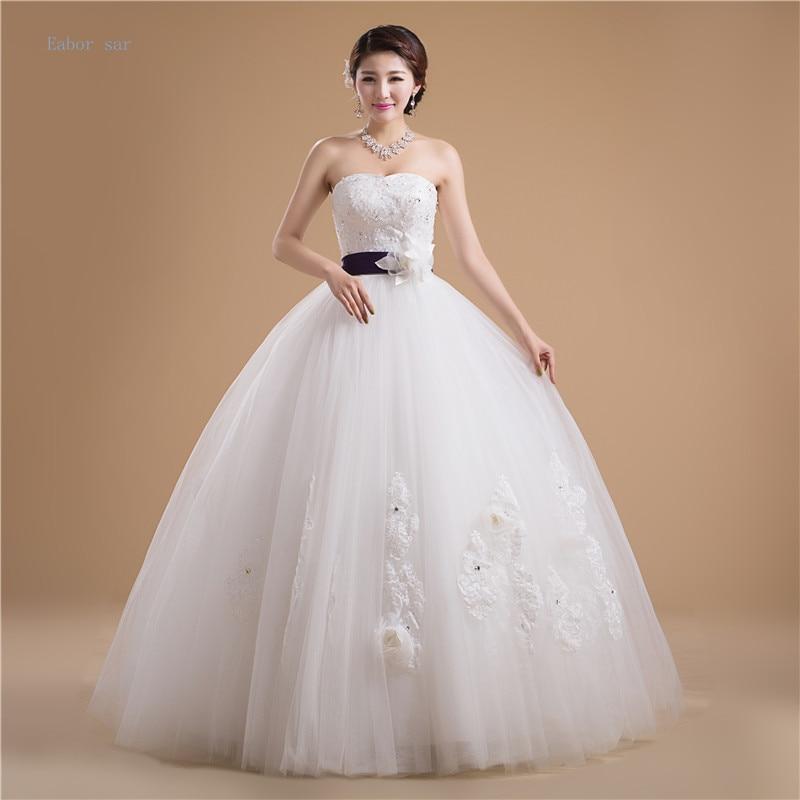 White Wedding Dress With Black Flowers