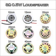 YuXi 2pcs 8R 0.5W Horn Loud Speaker Buzzer Ringer 10mm 15mm 20mm 23mm 26mm 30mm 32mm 36mm 40mm 50mm 8 ohm 0.5W Small loudspeaker