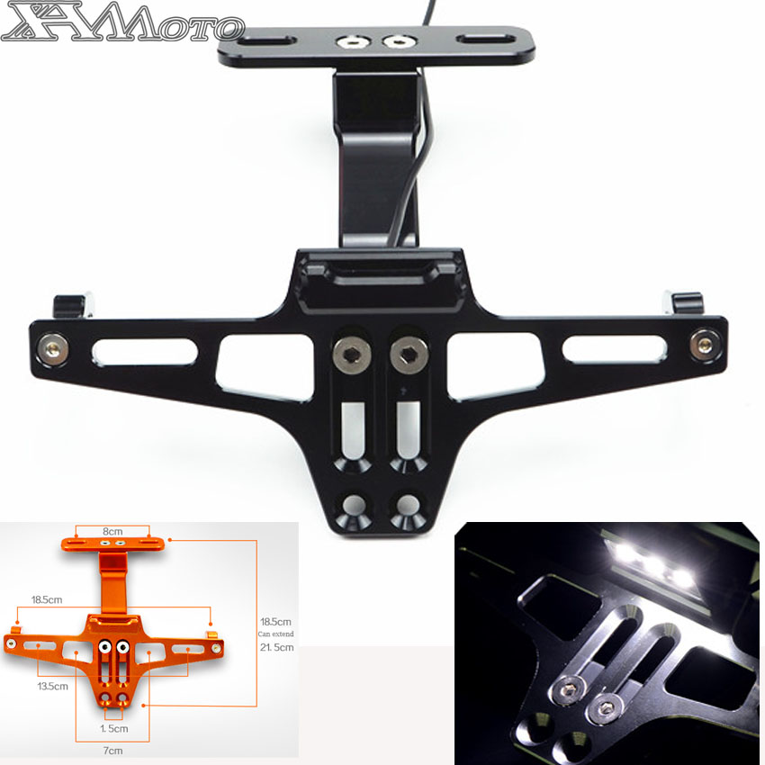 CNC Motorcycle License Plate Bracket Holder FOR ktm duke RC 125 200 390 690 smc 1290
