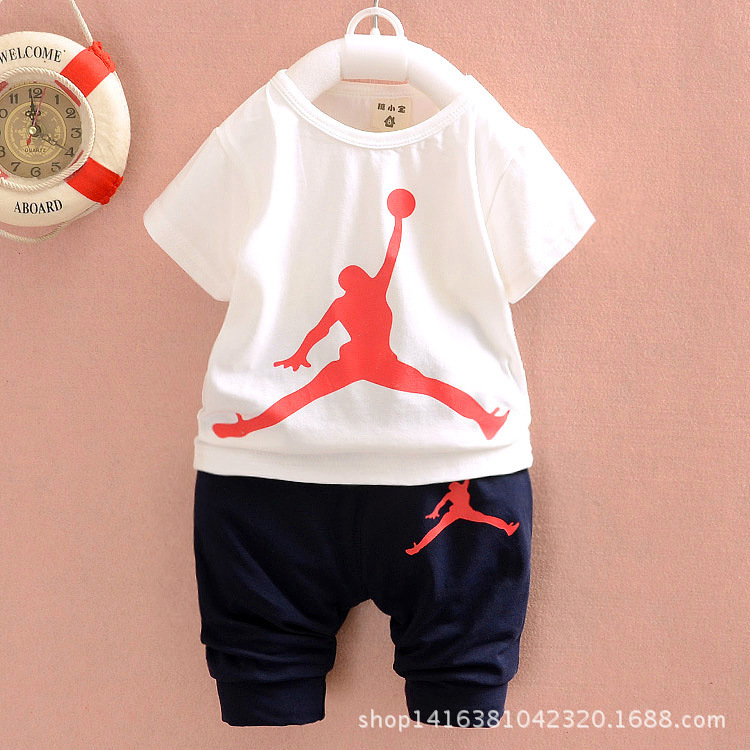 3ad8b73ae007fa hot sale summer children boys girls tracksuits kids jordan short  sleeves+Haroun pants 2 sets children suits-in Clothing Sets from Mother    Kids on ...