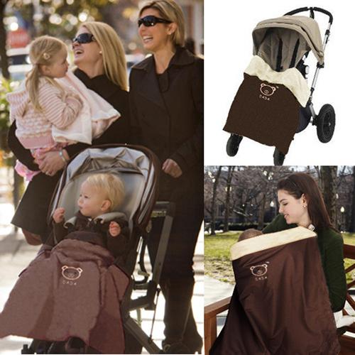 Cochecitos de bebé Swaddle manta viento e impermeable mantas interior es de lana caliente manta de múltiples funciones - - MKC026 PT30