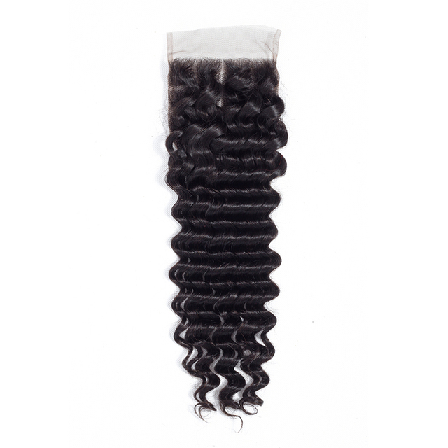 BY Hair Brazilian Deep Wave Human Hair Lace Closure 4*4 Free Part Swiss Lace 8-22inch Remy Hair 1 piece Free Shipping