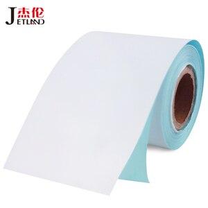 Jetland термобумага клейкая наклейка рулон 57x50 мм, непрерывная прямая термоэтикетка для POS чековый принтер, 4 рулона