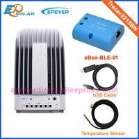 30A 24 В Солнечный контроллер USB кабель датчик температуры и bluetooth eBOX Tracer3215BN MPPT EPEVER EPsolar Макс ру вход 150 В