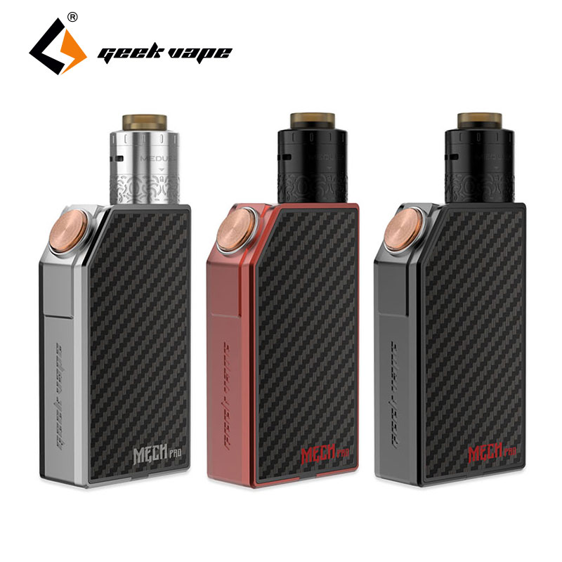D'origine GeekVape MECH Pro Kit w/Geekvape Medusa RDTA Réservoir 3 ml Cigarette Électronique Kit Mécanique Pro Starter Kit vaporisateur Boîte