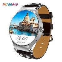 2017 interpad kw98 Смарт часы Android IOS SmartWatch Электроника для здоровья спортивные трекер часы с сердечного ритма GPS WI FI 3G телефон часы