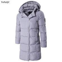 2017 New Winter Men Jacket Casual Male Thicken Coat Warm Men Zipper Outwear cotton Long Jacket Hooded Parkas