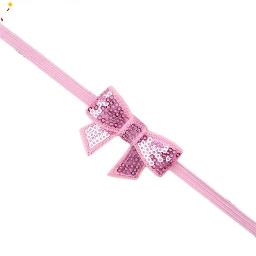 New Fashion Little Girls Bling Headbands Kiddo Bowknot Hairbands Aug7 Drop Shipping