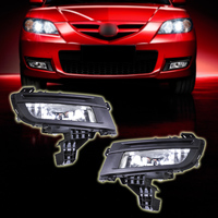 beler High Quality ABS Pair Front Fog Light Lamp 9006 12V 51W for Mazda 3 2007 2008 2009 Replacement Without wiring harness