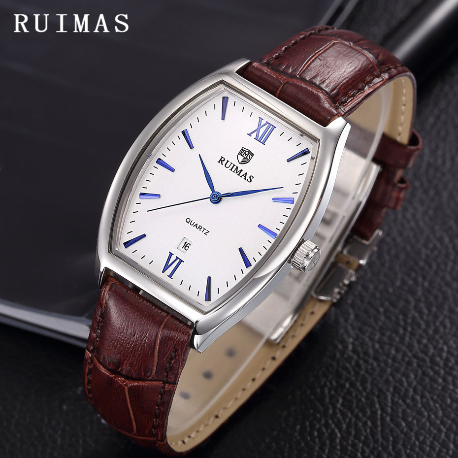 Mens Business Classic Quartz Watch RUIMAS Reloj Hombre Fashion Leather Wristwatches Men Watches Waterproof Top Brand Clock Hours yazole watch men 2016 simple big dial fashion business mens watches leather strap quartz wristwatches male clock reloj hombre
