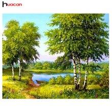 HUACAN,Tree,Diamond Painting Cross Stitch,Scenic,Full Square,Rhinestones,DIY,Diamond Embroidery ,5D,Diamond Mosaic,Wall Decor