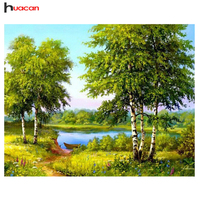 HUACAN 5D DIY Diamond Painting Scenic Diy Full Diamond Set Cross Stitch Embroidery Of Rhinestones Tree