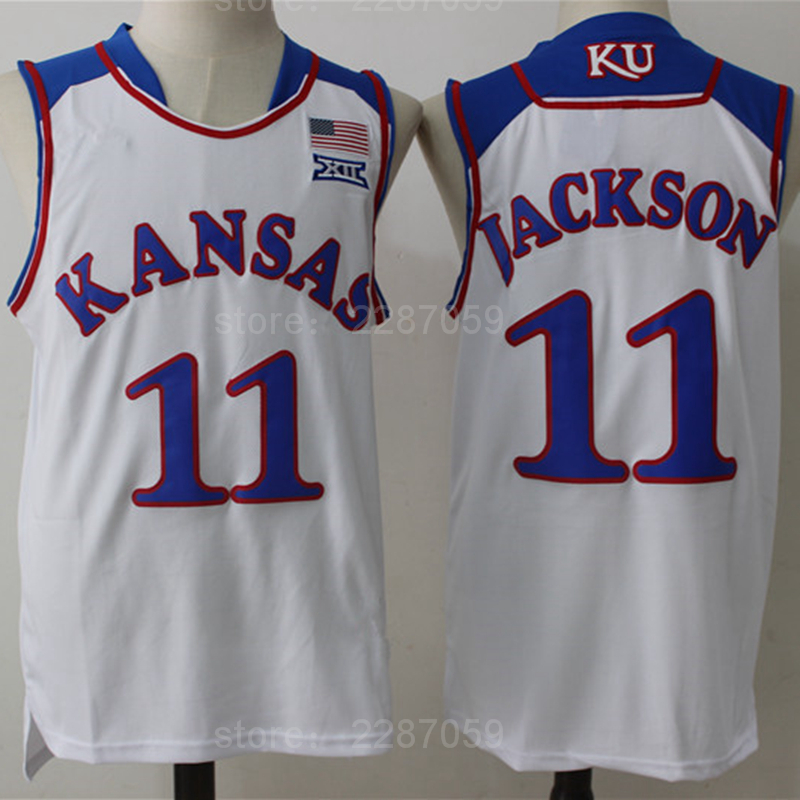 timeless design 74a1e 9253e Ediwallen Wholesale 11 Josh Jackson College Jerseys Kansas Jayhawks Jersey  Men Basketbal Uniforms Blue Whitye Stitched Quality-in Basketball Jerseys  ...