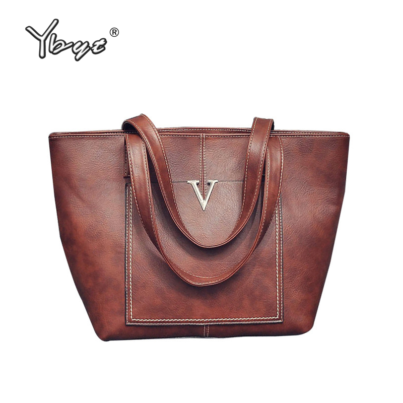 YBYT brand 2017 new women PU leather totes vintage casual shoulder bag female large capacity package ladies shopping handbags forudesigns casual women handbags peacock feather printed shopping bag large capacity ladies handbags vintage bolsa feminina