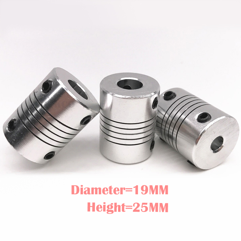 1 pcs CNC Motor Jaw Shaft Coupler 5mm To 8mm Flexible Coupling OD 19x25mm wholesale Dropshipping 4/ 5/6/6.35/8/9.5/10/12mm image