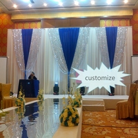 3*6M sequin wedding backdrops elegant luxury wedding veil party stage frabic drape wedding background decoration event party