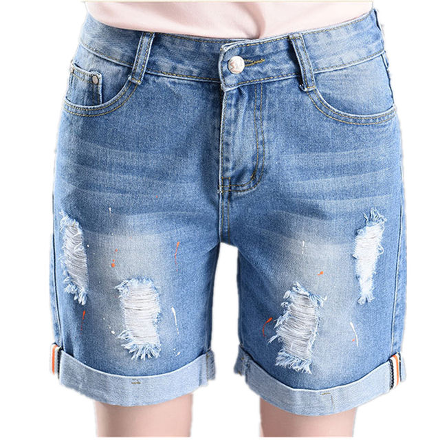 561c66036b240 Online Shop New 2018 Summer Women Grandes Bermuda Jeans Fashion ...